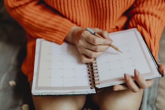 pisanie w kalendarzu